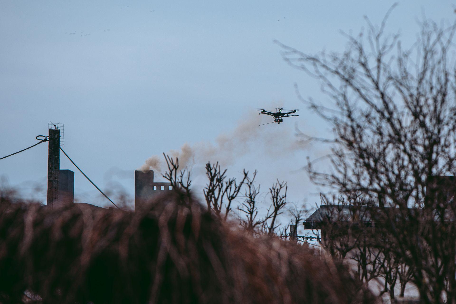pomiary jakosci powietrza dronem